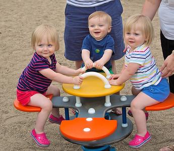 Grandkids at the Armatage Playground - Jun 8, 2014