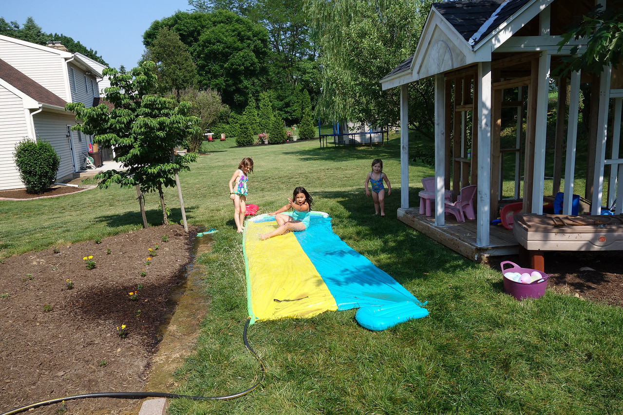 Slip and Slide fun at Anna's party