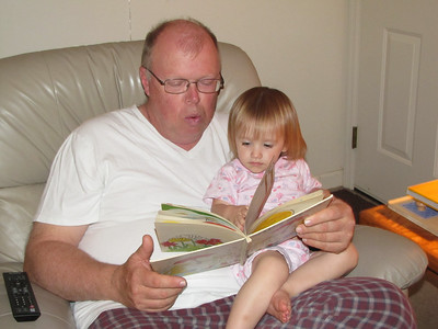 "Grandpa reading ""Splish Splash"""