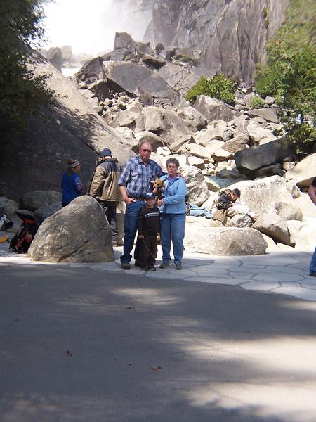 In front of Yosemite Falls
