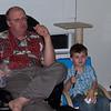 BeePa & Dylan eating pineapple.