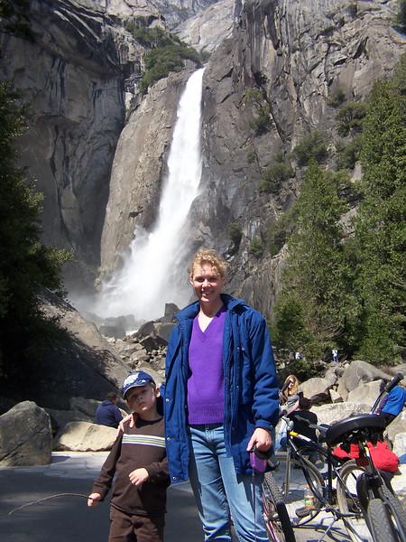 Dylan & Elissa in front of Yosemite Falls