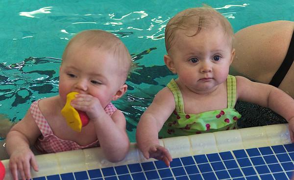 Elise and Annika's Last Swim Lesson of 2013