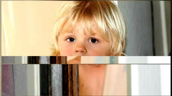 Grant staring in his toddler shower scene. July 2008