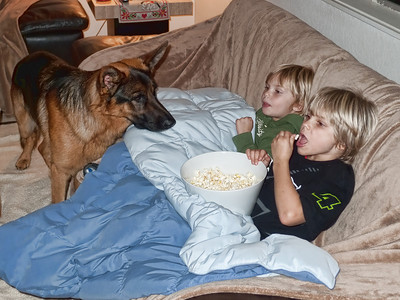 That's better the popcorn is ready.