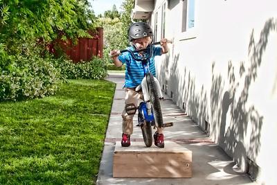 I can wheelie over the jump too.