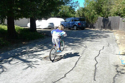 A wheelie just like daddy does.
