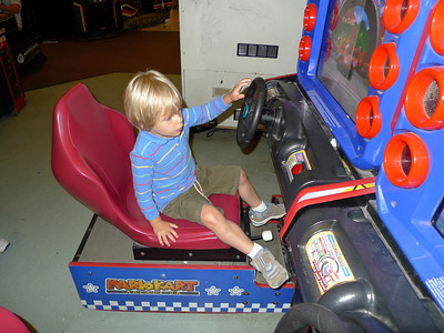 Now he will try his hand at this driving game.