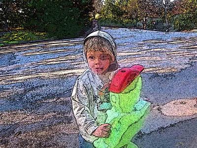 Grant meets his alien friend.
