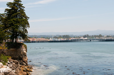 Looking south towards the Santa Cruz Boardwalk.