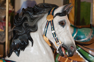 The carousel horses are works of art.