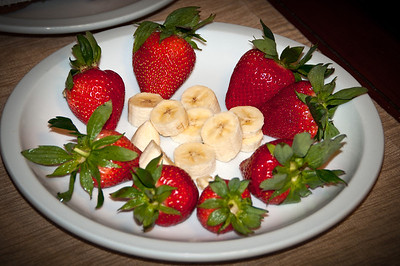 Strawberries and banana.