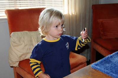 Concentrating on picking out a video.