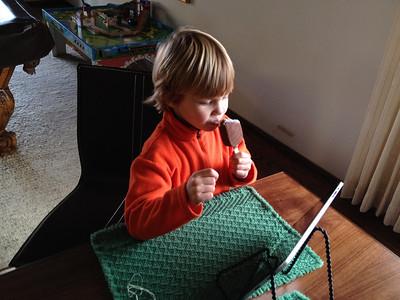 Multi-tasking. (I-Phone Photo)