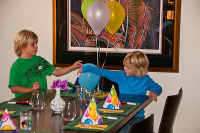 It is time for a party to celebrate Saxon turning 4 years old.