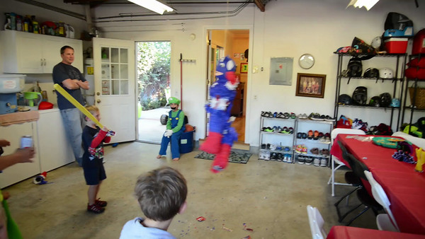 More action with the poor super hero