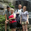 Here we are at Fall Branch Falls in the Cherokee National Forest.<br /> It is 90 ft. high. I'm in the backpack and I'm sleeping.