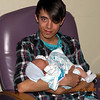 Jared holds  his first nephew!
