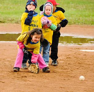 Chayse takes up baseball, May, 2010