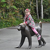 Seattle Zoo - Kendra on baboon