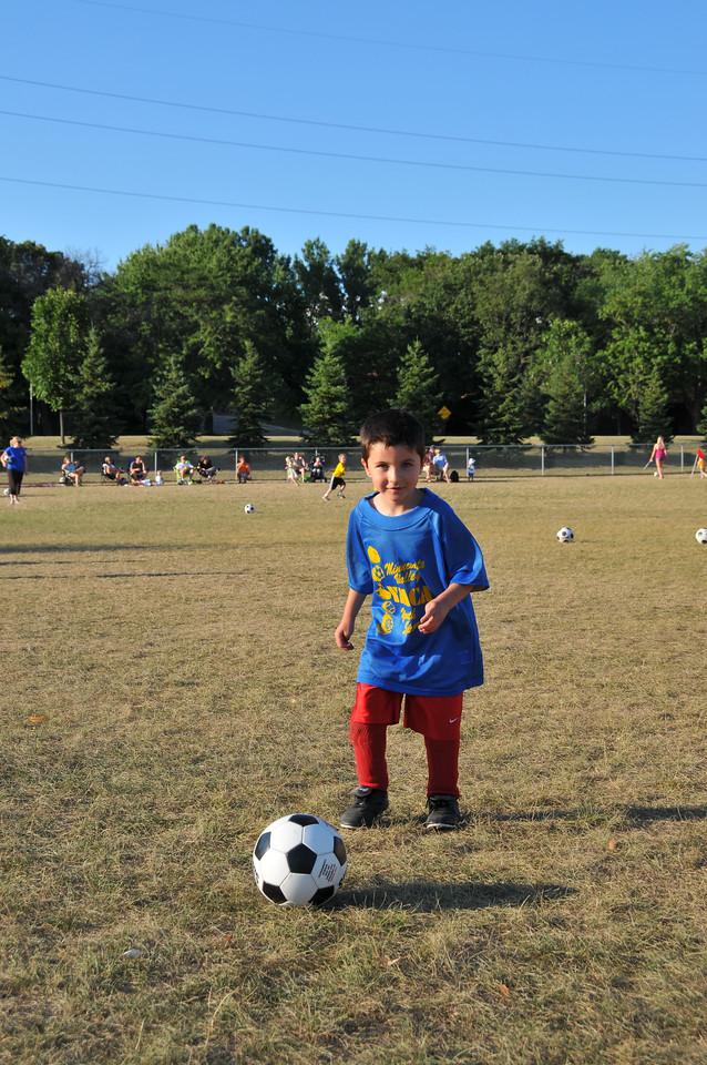 Carson at 2008 soccer game