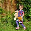 grandkids - Kendra in backyard
