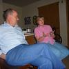 Mark Buehner and Joy Ligget in Mom's kitchen/living room at Atria.