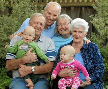 Grandma & Grandpa Johnson with the twins 2006