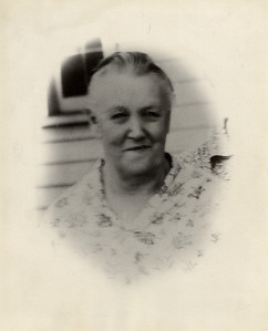 Grandma Rozema, Grandpa's 1st wife. This is the only photo that there is of her and this was made from another photo.