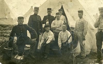 Grandpa Pott in the Army. Grandpa is on the far left.