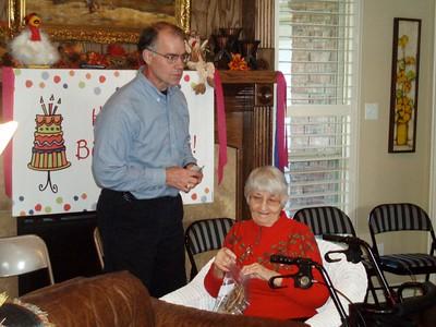 Grandma Kunkel's 90th Birthday 11-8-09