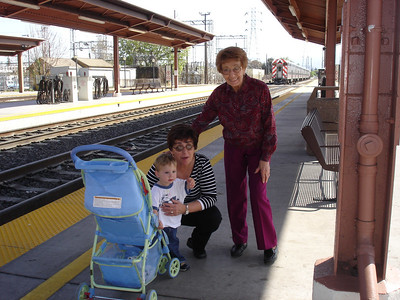 We took the grandmas to see the trains.