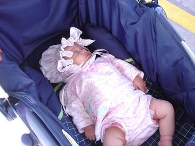 Adelaide took another nap in the stroller.