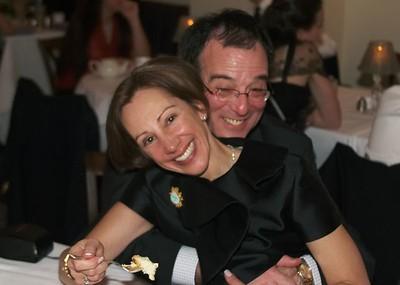 Mom and Dad hug