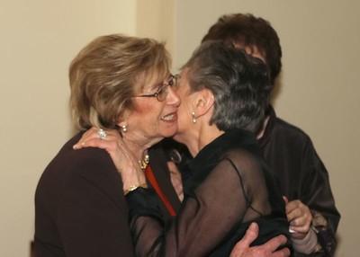 Grandma and Francine Kiss
