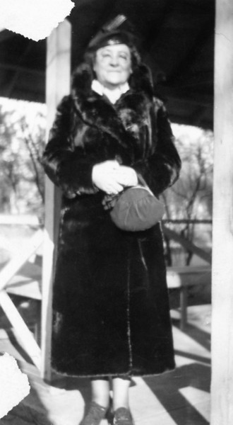 Greatgrandmother Anna Margaret Ganss in 1933, married first to Mr. Fleischmann (Ruth Ann's father), second to George Joseph Dietrich (Rita, George and Francis' father). Anna was born 1881 in St. Louis and died 1968 in Quincy. George was born in 1875 in Liberty, Ill. and died in 1940 in Quincy.