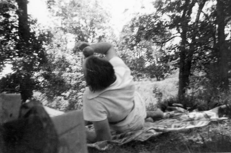 Is this grandma or Ruth Ann? Looks like a fun picnic.