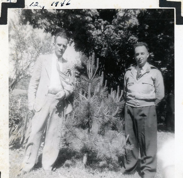 Grandpa Edward (on right) and his brother Paul<br /> 1946<br /> <br /> Grandpa was a farmer, a semi-pro umpire until he contracted polio, and Chief of the Tri-Township Fire Protection District.