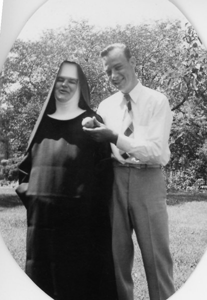 """Uncle Bud"" tempting Sister Mary Ann"