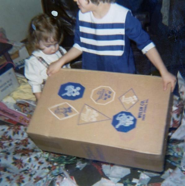 Christine & Lisa<br /> Quincy, Illinois<br /> Christmas 1970