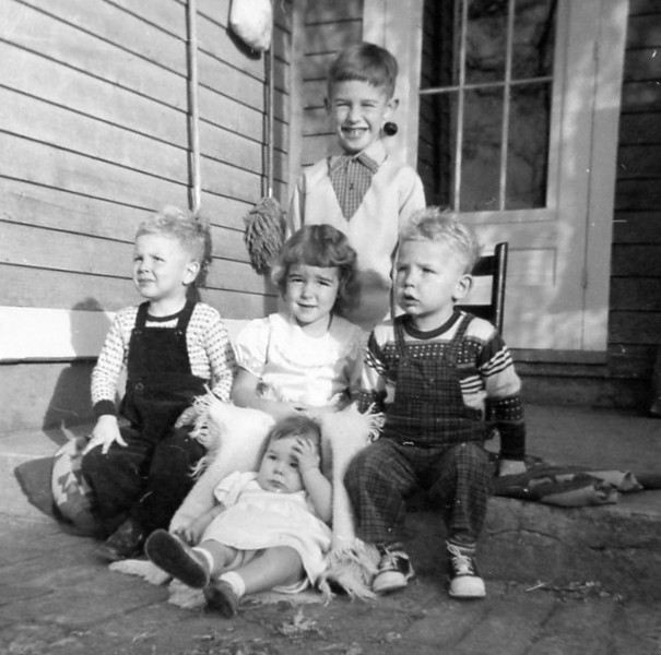 Grandma & Grandpa's children (Nancy's not born yet)<br /> Jim<br /> Denis, Jan, Gary<br /> Mary<br /> December 7, 1952