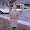 Sally in AF with Merlin's 60  Chevy in the background.