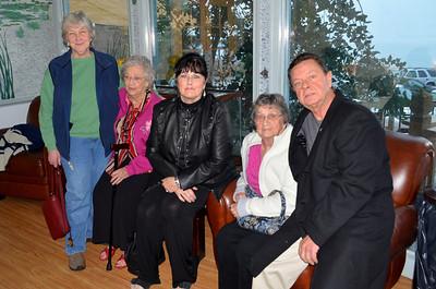 Judy, Grandma, Len, Aunt Jessie and Jimmy.
