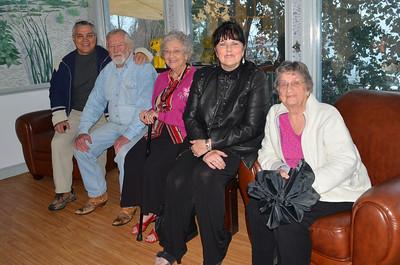 Sam, Lee, Grandma, Len and Aunt Jessie.