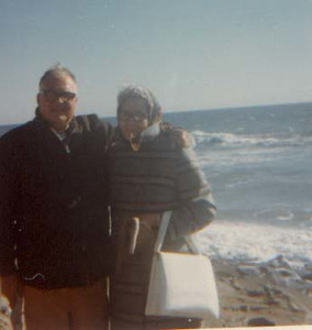 dick & mary in front of ocean