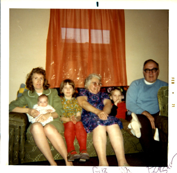 This Edgar's wife of whom I don't know and kids I don't know ,grandma Florence McIntire and dads brother Edgar.