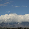 Mt. Timpanogos with a frothy hat.