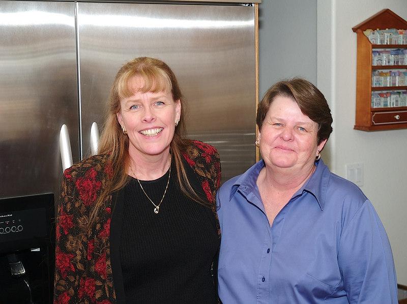 Sisters Barbara and Cheryl.