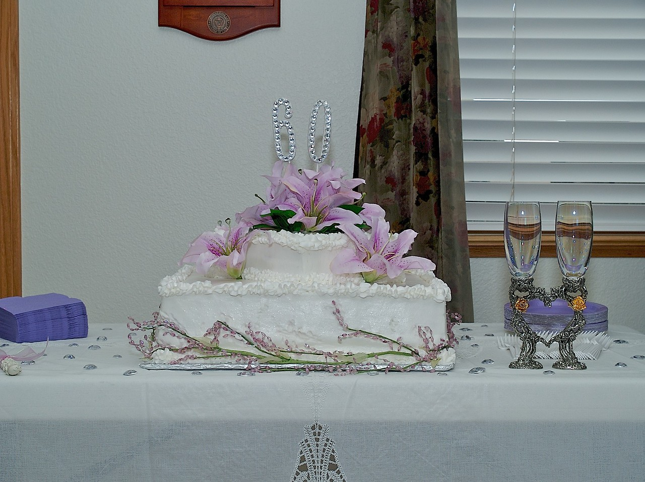 Tony's grandparent's anniversary cake.