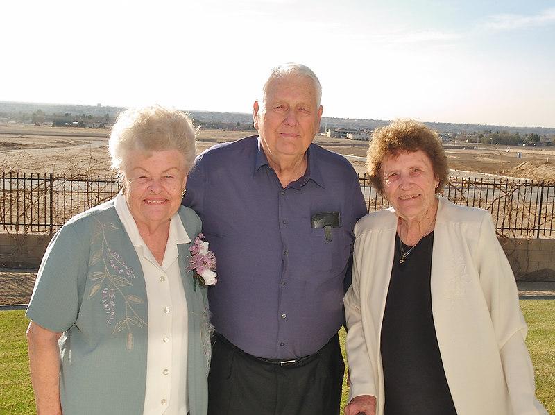 Grandma Ellen and Grandpa Howard with his sister Marge.